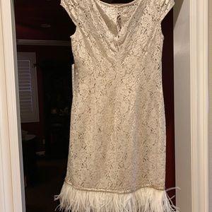 Gorgeous ostrich feather dress! Never worn!